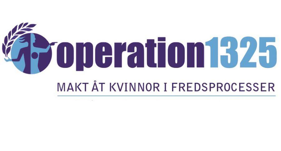 Operation 1325 är en feministisk fredsorganisation som arbetar för att öka kvinnors inflytande i fredsprocesser och i konfliktlösning genom påverkan, information och kapacitetsstärkning i Sverige och världen.