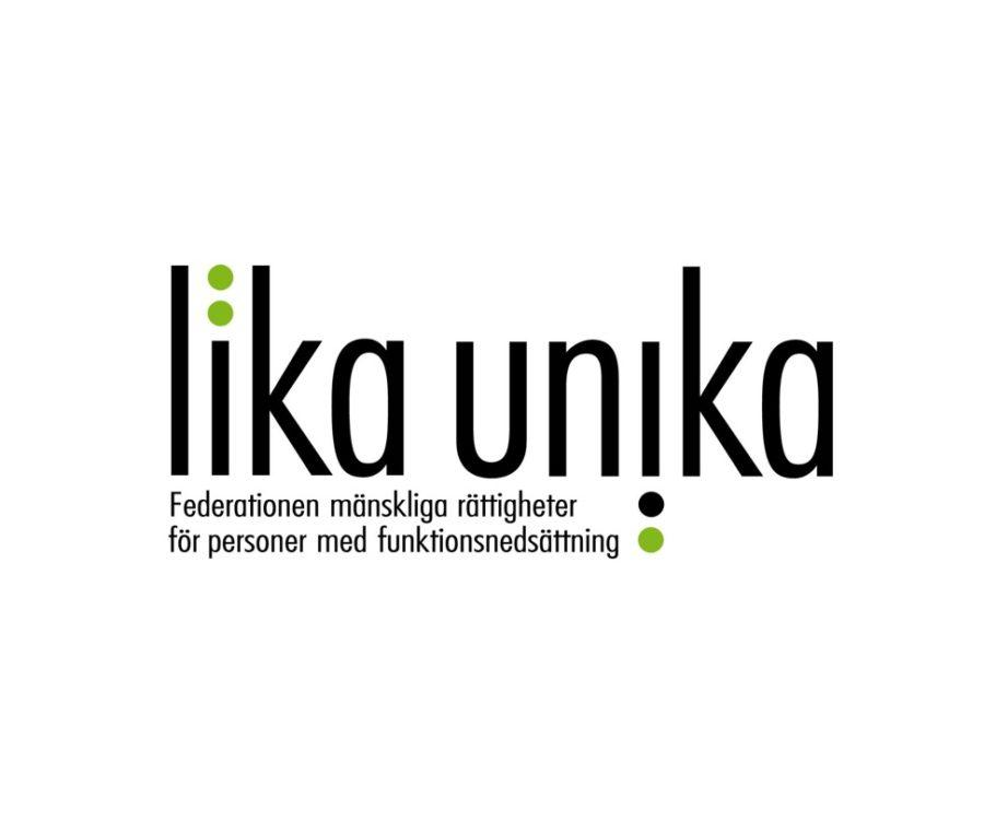 Lika Unika är en federation som vill öka respekten för mänskliga rättigheter i svensk politik, att alla ska få delta och bidra i samhället. Vår vision är att alla människor ska ses som de resurser de är. Lika Unika verkar för mänskliga rättigheter för personer med funktionsnedsättning, i olika sammanhang utifrån mänskliga rättigheter och ett funktionshinderperspektiv.