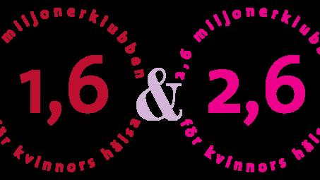1,6 & 2,6 miljonerklubben är en av Sveriges största ideella kvinnoföreningar, som arbetar för bästa möjliga livskvalitet och hälsa för alla kvinnor samt för att det kvinnliga perspektivet ska finnas med inom alla områden i samhället. 1,6 miljonerklubben fokuserar på den mogna kvinnan och 2,6 miljonerklubben sätter ljus på yngre kvinnors situation.